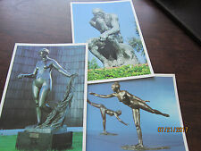 3 NORTON SIMON MUSEUM Vintage Post Card Venus Victorius Aarabesque THe Thinker