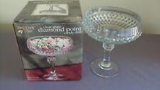 Indiana Diamond Point Glass Compote Pedestal Candy Bowl Dish Depression New NIB