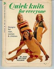 Quick Knits For Everyone Minibook 1969 Vintage DIY Retro Fashion Style OOP Rare!