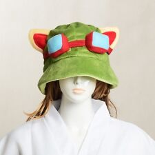 Teemo Army Green Cap League of Legends LOL Hats Cosplay Plush Cotton Cute