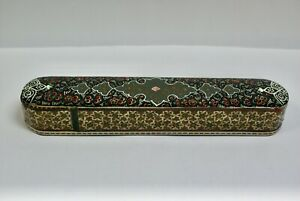 Beautiful Hand Decorated Inlaid Persian Khatam Box For Pencils Or Incense Sticks