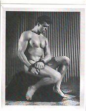 Male Model Bodybuilder Ed Fury Bodybuilding Muscle Photo B&W #30C