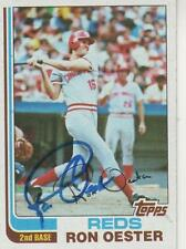 RON OESTER SIGNED 1982 TOPPS #427  - CINCINNATI REDS