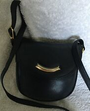 Joan Weisz Padded Black Leather Cross Body/Shoulder Bag / Handbag
