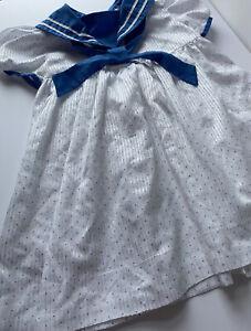 Vintage Girl's Handmade Sailor Dress Patriotic Nautical Photography  2T
