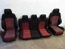 VW Golf 4 GTI RECARO Sitze Ausstattung Sitzausstattung ROT SCHWARZ Innen STOFF