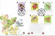 IOM Isle of Man Manx FDC Commemoratives 2001 Bugs & Bees