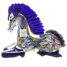 GlassOfVenice Murano Glass Millefiori Kneeling Horse