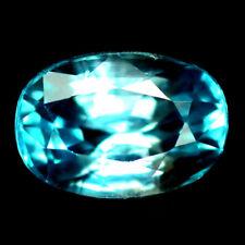Zircon bleu en coussin facetté de 4.13Cts
