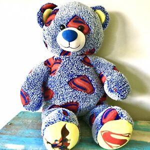 "Superman Build a Bear Plush Stuffed Animal EUC Clean Collectible 17"""
