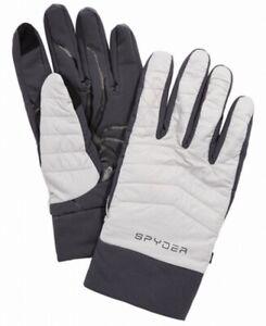 Spyder Men's Winter Gloves Light Gray Size Medium M Glissade Hybrid $35 #366