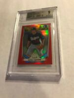 2014 BOWMAN CHROME MINI RED REFRACTOR COREY SEAGER RC JERSEY #5/5 1/1 BGS MINT 9