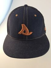8f03579beae Stussy Headgear Denim Fitted Baseball Hat Cap (7 3 8   Smaller) NEW