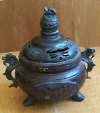 China Bronze Dragon incense burner in qing dynasty  铜 炉