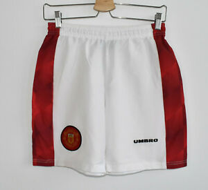 Manchester United rare vintage retro shorts UMBRO shirt jersey trikot size 26in