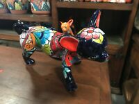 TALAVERA MEXICAN POTTER - ANIMALS - Small CHIHUAHUA HIKING (Assorted Colors)
