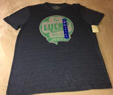 LUCKY BRAND Blue Graphic  T Shirt Try Lucky  Brand Men's L NWT Free Shipping