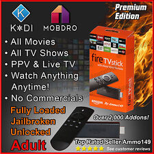 AMAZON FIRE TV STICK * Adult * 2nd Gen K 17.3 TV, Movies, Sports