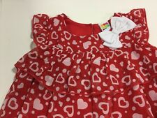 Healthtex Shirt  Red White Hearts New Top Dress Girls 3T New With Tags