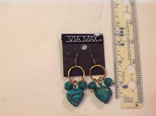 Sold By The Dozen heart turquoise Dangle Earrings