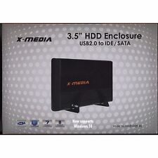 X-media External IDE/SATA 3.5 Hard Disk Drive USB 2.0 Enclosure Case Windows 10