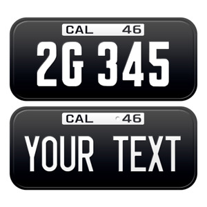 1 x Custom Personalized 1946 California License Plate with YOUR TEXT