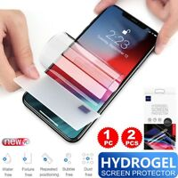 Flexible Hydrogel Screen Protector Film For iPhone Xs Max/Xr/Xs/X/6 6S 7 8 + CA