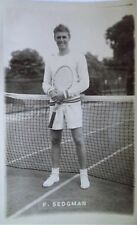 SEDGMAN FRANK 1950's ORIGINAL PHOTOGRAPHIC TENNIS POSTCARD