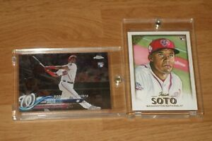 LOT OF (2) -- JUAN SOTO -- ** ROOKIE CARDS ** -- TOPPS CHROME UPDATE + GALLERY!
