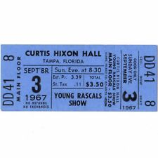 THE YOUNG RASCALS Concert Ticket Stub TAMPA 9/3/67 CURTIS HIXON GROOVIN Rare