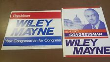 VTG lot of 2 Wiley Mayne Congress Advertising Political Sioux City IA Poster