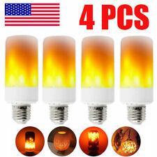 4PCS E27 LED Flame Effect Fire Light Bulb Flickering Lamp Simulated Decorative
