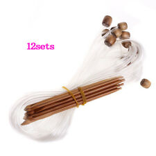12pcs Afghan Carbonized Bamboo Crochet Hooks for MAXIMUM Project Flexibility F6