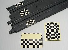 6 Vintage Slot Car Track Start Finish Line Flag Deco Billboard ADHESIVE STICKERS