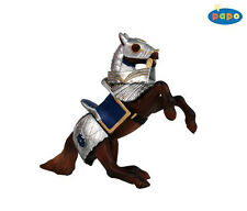 FREE SHIPPING | Papo 39247 Armored Horse Blue Knight Mount Toy- New in Package
