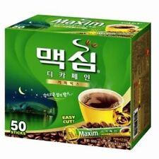 MAXIM Decaffeinated korean Instant Coffee Mix 50 Sticks