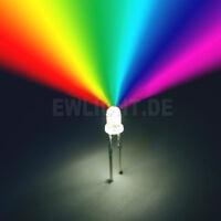 10 LEDs 3mm RGB 2 Pin Farbwechsel automatisch langsam LED REGENBOGEN + Zubehör