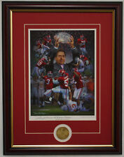 ALABAMA football - all 5 of 2009 season framed prints with coin by Daniel Moore