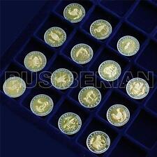 SET 15 BI-METALLIC RUSSIAN SOUVENIR COINS RED BOOK 5 10 50 Rubles 1991 - 1994 #1