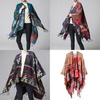 Lady Open Front Cardigan Shawl Cloak Boho Cape Poncho Kimono Blanket Wrap Casual