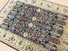 """4'.7"""" x 6'.2"""" Navy Blue Agra Persian Oriental Rug Hand Knotted Wool Office/Study"""