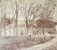 ORIGINAL (3rd) FIRST PRESBYTERIAN CHURCH (1813-1927) ORANGE NJ PHOTO c1880
