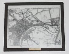 Höxter, Corvey,  Landkarte, antikes Lichtbild Glasplatte ca. 1925 #E846