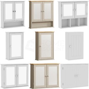 Priano Cabinet Wall Mounted Single Double Door White Vanity Cupboard Storage
