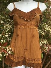 New_Spaghetti Strap Embroidered Boho Tunic Smocked Top_Free Size (S-M)_Gorgeous!