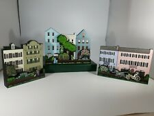 "Lot of 3 Sheila""s Collectible Wooden Houses - 2001 - Exc Condition!"