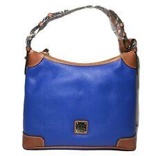 Dooney & Bourke Pebbled Leather Hobo Shoulder Bag French Blue R924 NWT $228