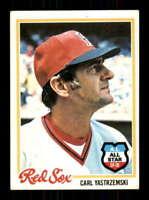 1978 Topps #40 Carl Yastrzemski NM/NM+ Red Sox 514377