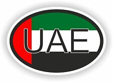UAE United Arab Emirates COUNTRY CODE OVAL WITH FLAG STICKER bumper decal car