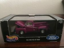 Hot Wheels Collectibles 1955 Ford Pick-Up Truck Purple 1:43 scale
